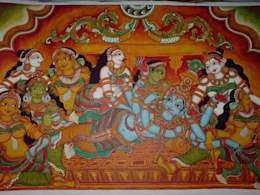 Traditional tanjore paintings and Kerala murals:  Artwork by SHEEVIA  INTERIOR CONCEPTS