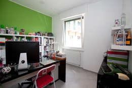 ห้องทำงาน/อ่านหนังสือ by Studio_P - Luca Porcu Design