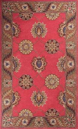 Oriental persian area rug handmade Red Brown carpet: modern Living room by Midas craft