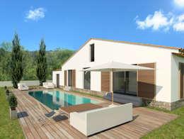 Maison individuelle, Saint-Tropez (83), 2014 - Réhabilitation - 100 m²: Maisons de style de style Méditerranéen par ERIC SANTOS • ARCHITECTURE