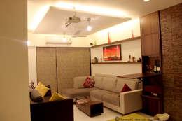 Living Room view:   by kaamya design studio
