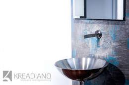 industrial Bathroom by Kreadiano