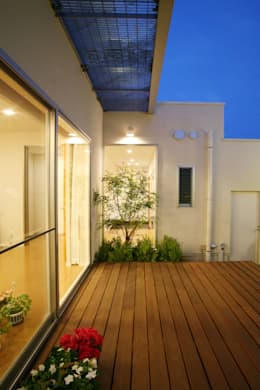 Giardino in stile in stile Moderno di 株式会社 U建築研究所