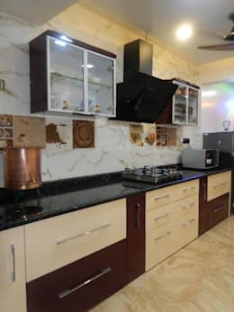 kitchen : modern Kitchen by ajinkyainteriors