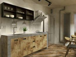 Aleksey Bereznyak: endüstriyel tarz tarz Mutfak