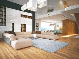 modern Living room by LK & Projekt Sp. z o.o.