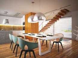 modern Dining room by LK & Projekt Sp. z o.o.