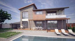 Частный дом для молодой семьи «PUZZLE HOUSE»: Tерраса в . Автор – studio forma