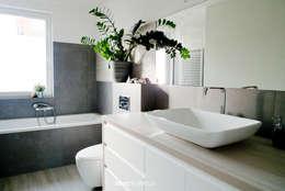 Betonowo: styl , w kategorii Łazienka zaprojektowany przez idea projekt