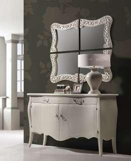 Espejo Vintage Blanco Nabil: Vestidores de estilo clásico de Ámbar Muebles