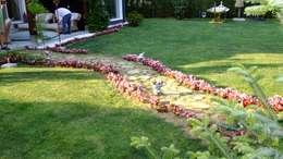 EDMİMARLIK INTERIOR STUDIO – GÖKTÜRK KEMERPARK EVLERİ: modern tarz Bahçe