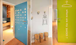 Pasillos y recibidores de estilo  por NISZA DESIGN