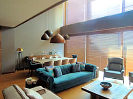 Projekty,  Salon zaprojektowane przez Visage Home Style