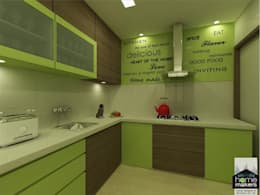 Ultra-modern and 'never seen before' art only by home makers: modern Kitchen by home makers interior designers & decorators pvt. ltd.
