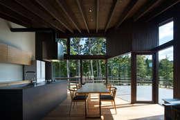 Sala da pranzo in stile in stile Moderno di 設計組織DNA