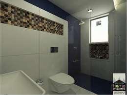 Blue Bathroom 2: modern Bathroom by home makers interior designers & decorators pvt. ltd.