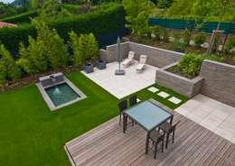 moderne Tuin door Bau-Fritz GmbH & Co. KG
