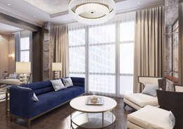 Апартаменты TriBeCa в стилистике Ар Деко: Гостиная в . Автор – Anna Clark Interiors