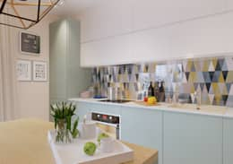 Achterwand Modern Keuken : Moderne keuken met werkblad en spoelbak van warmgewalst rvs en een