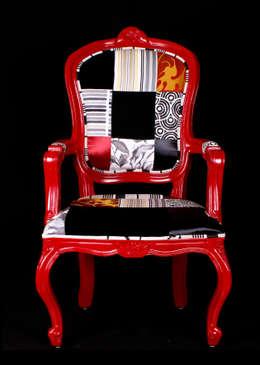 Silla Estilo Luis XV: Salas de estilo ecléctico por Sandra Molina