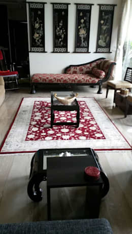 Handmade World Mumbai Home Interior Project:  Multimedia room by Indus Shanti Carpets India Pvt Ltd