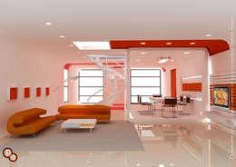 moderne Woonkamer door Preetham  Interior Designer