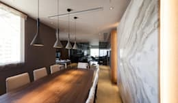 LP's RESIDENCE : minimalistic Dining room by arctitudesign