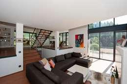Landelijke inspiratie in een modern huis - Moderne buitenkant indeling ...