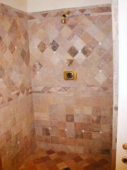 mediterranean Bathroom by La Fleche Design