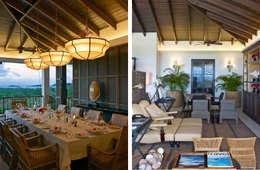 ZONA PRANZO - SOGGIORNO: Sala da pranzo in stile in stile Tropicale di ANG42