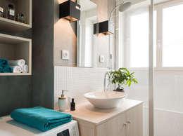 Rénovation d'un appartement à Lyon 07: Salon de style de style Moderne par Marion Lanoë Architecte d'Intérieur