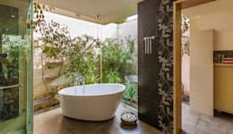 G Farm House: eclectic Bathroom by Kumar Moorthy & Associates