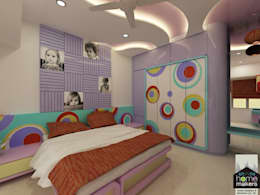 Daughter's Room:   by home makers interior designers & decorators pvt. ltd.