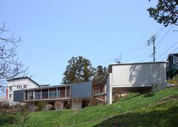 南東側外観: TOSHIAKI TANAKA&ASSOCIATES/田中俊彰設計室が手掛けた家です。
