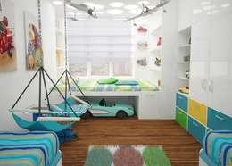 Детская комната : Детские комнаты в . Автор – Medianyk Studio