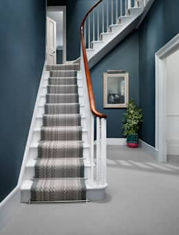 modern Corridor, hallway & stairs by Wools of New Zealand