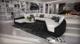 Canapé  design Ippazzio: Salon de style de style Moderne par Mobilier Nitro