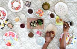 Cocinas de estilo rural por Cayena Blanca