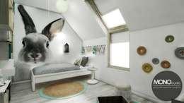 Dormitorios infantiles de estilo escandinavo por MONOstudio