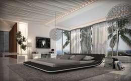 Lit design lumineux noir Victoria: Chambre de style de style Moderne par Mobilier Nitro