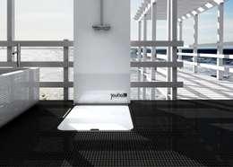 Joulia - Die erste Duschwanne mit integrierter Wärmerückgewinnung.:  Badezimmer von Joulia