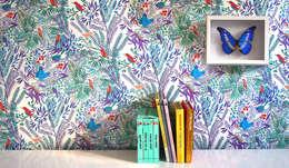 JAZZ colori ACQUA: Murs & Sols de style de style eclectique par Little Cabari