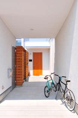 島田博一建築設計室: modern tarz Evler