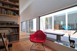 島田博一建築設計室: modern tarz Çalışma Odası