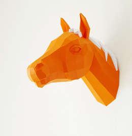 Wand-Trophäe Pferdchen:  Wände & Boden von Paperwolf