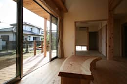 eclectic Living room by 八島建築設計室