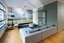 DITTEL ARCHITEKTEN GMBH: modern tarz Oturma Odası