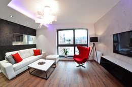 Mieszkanie Gdańsk - 38m2 - 2015: styl , w kategorii Salon zaprojektowany przez Pracownia Projektowa Studio86