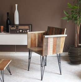 Chair 13 by Officine Catena: Soggiorno in stile in stile Eclettico di Swart