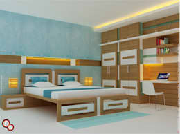 Bedroom Interiors -- Karthik residence: modern Bedroom by Preetham  Interior Designer